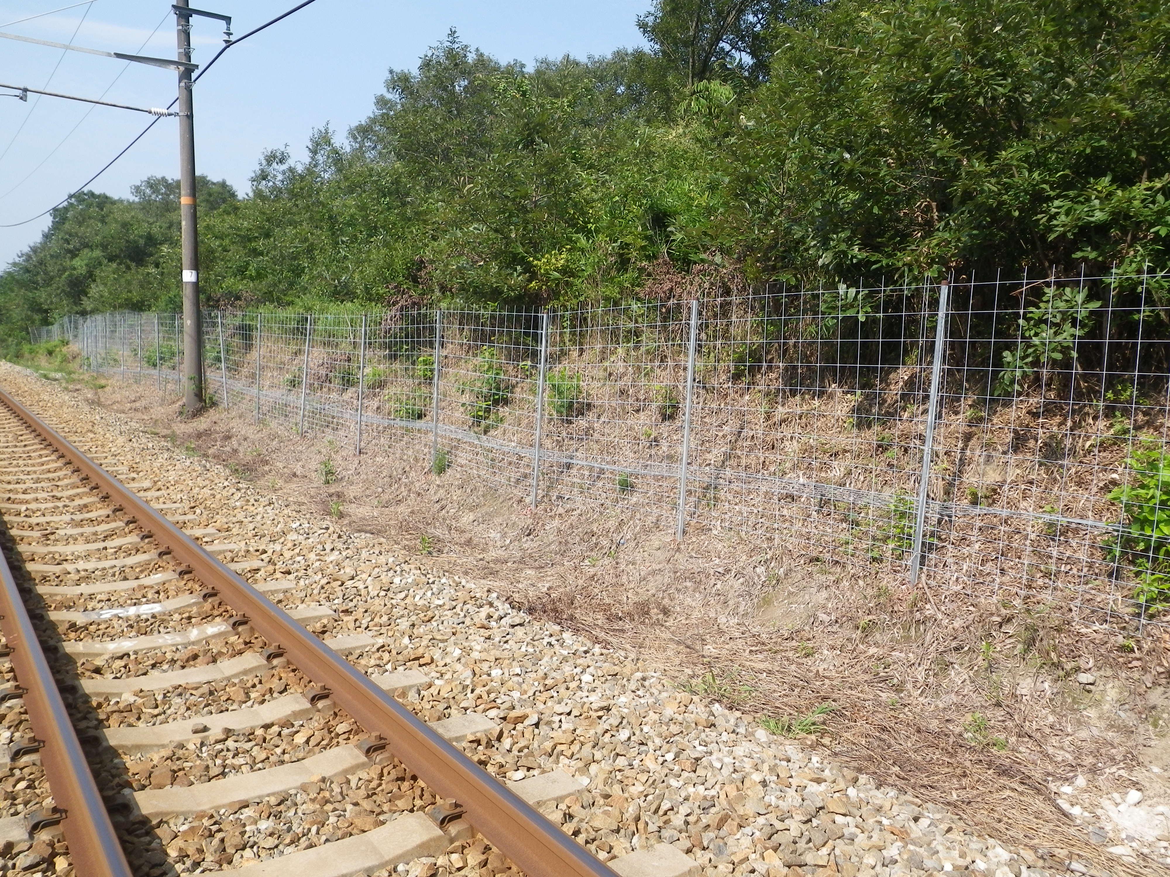 線路沿いへ設置2