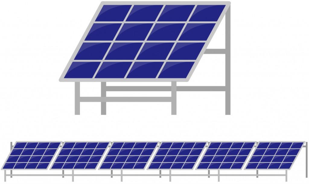太陽光パネルのイラスト