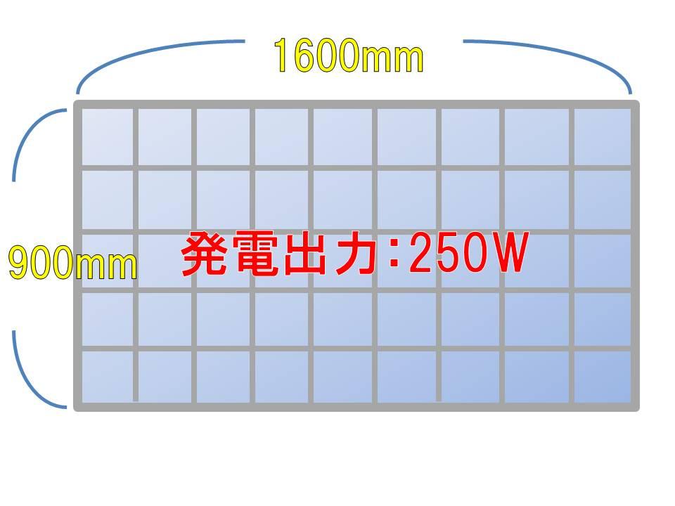 太陽光パネルスペック例