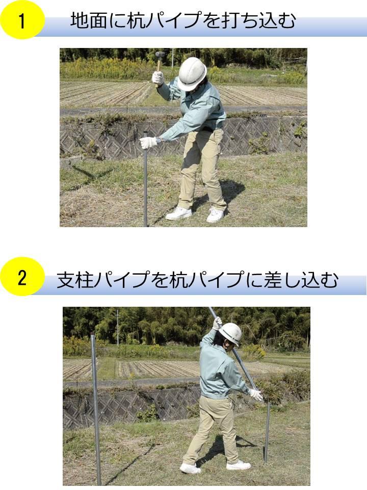 フェンス設置の主な4工程①~②