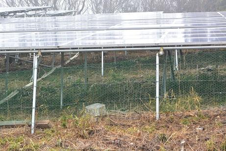 他社フェンス(網と単管パイプ)