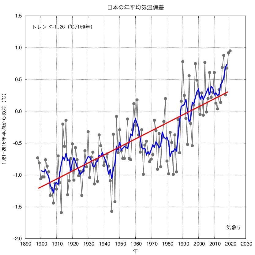 気温・降水量の長期変化傾向日本の年平均気温